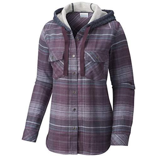 (Columbia Womens Canyon Point II Shirt Jacket,Dusty Purple, X-Small)