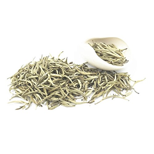 Premium Chinese Organic Bai Hao Yin Zhen Silver Needle White Leaf Tea - Direct Delivery From Fujjan China - Cholesterol Lowering Weight Loss Tea (500g (17.63 ounce)) by China Farm Products (Image #2)