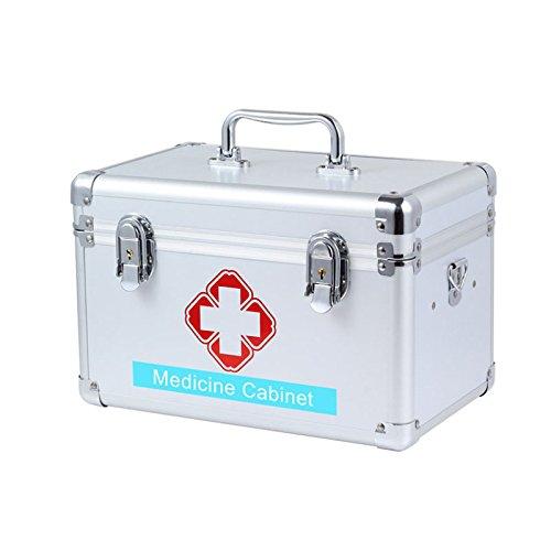 Multi - Family Medical caja de metal con llave emergencia mé dica Caja de almacenamiento almacenamiento Medical Collection (14 pulgadas). xj