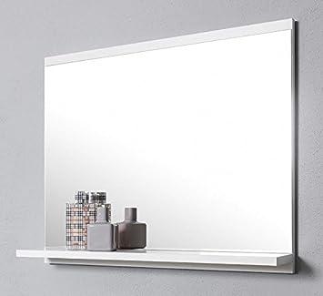 Extrem DOMTECH Badspiegel mit Ablage, Weiß Badezimmer Spiegel KI51