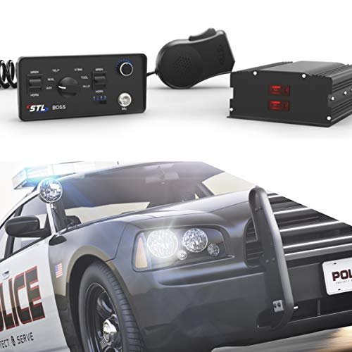SpeedTech Lights Boss 200-Watt Police Siren and Emergency Vehicle Siren System with Horn and PA Microphone