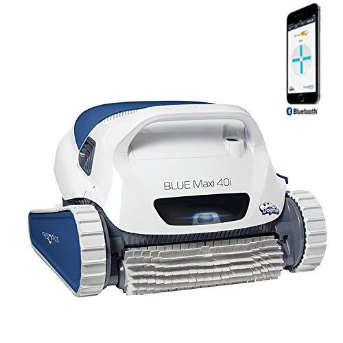 Dolphin Blue Maxi 40i – Robot automático limpiafondos para Piscinas (Fondo y Paredes) Sistema de navegación preciso Clever Clean. Control Remoto App MOVIL Bluetooth