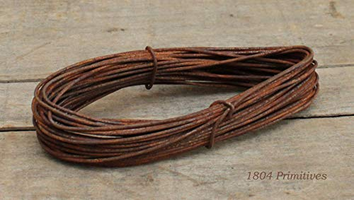 2 coils - 16 Gauge Primitive Rusty Tin Wire - 72 ft Total - Crafts