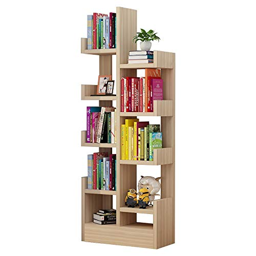 5 Tier Simple Small Bookcase Multifunction 9 Cube Bedroom Multi-Layer Storage Locker Living Room 4821.6141cm (Color : Natural)