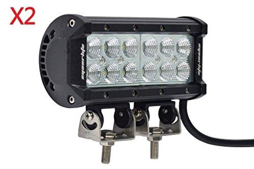 "Eyourlife 2pcs Super Bright 7"" 36w Cree LED Off Road Flood Driving Fog Light Bar 4X4 off road ATV SUV Jeep"
