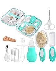 NEWSTYLE Babyverzorgingsset, 12-delige set voor dagelijks gebruik, verzorging met babygezondheidszorg, kit met neuszuiger, nagelhaarverzorgingsset, vingertandenborstel voor thuis en onderweg