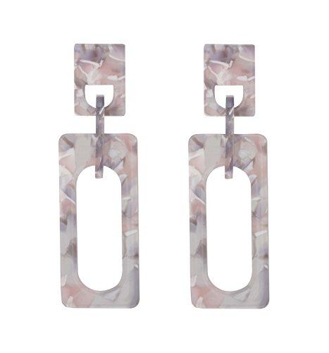 NVENF Acrylic Earrings Geometric Resin Chandelier Dangle Earrings Statement Drop Stud Earring for Women