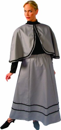 Dickens Dress Costumes (Alexanders Costumes Temperance Skirt and Capelet, Grey, One Size)