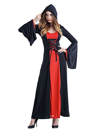 Gothic Enchantress Costume (Witch Vampire Dress Halloween Costume Full Length Gothic Enchantress Party Dress)