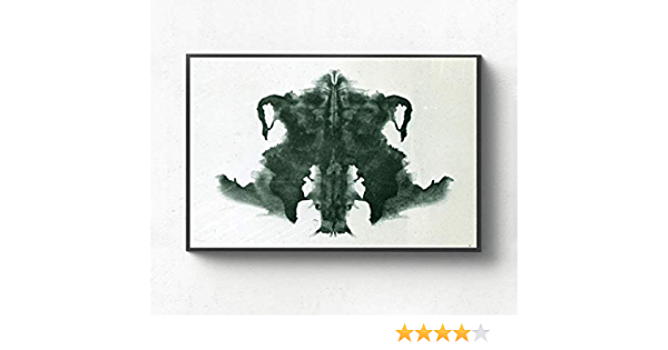 REDWPQ Imagen de Arte de Pared Rorschach Inkblot Test Art Canvas Poster Home Decoración de Pared 40X56Cm sin Marco