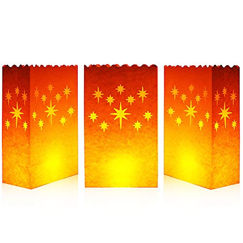 Cospring Luminary Bag Candle Bag Light Holder for Home Outdoor Christmas Wedding Reception Holiday Party and Event Occasion Decoration - Flame Resistant Paper - (20 Count) 03