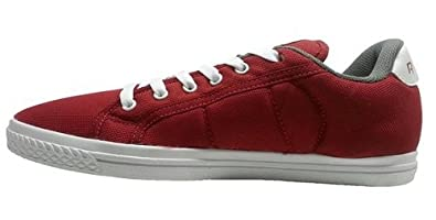 40322f325232f ... Reebok Men s On Court III Lp Red and White Denim Sneakers .