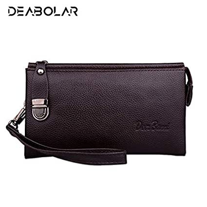 Amazon.com: Luxury Men Long Leather Wallet Cartera Hombre Male Handy Bags Clutch Purse Man Monederos Wallets Free: Kitchen & Dining