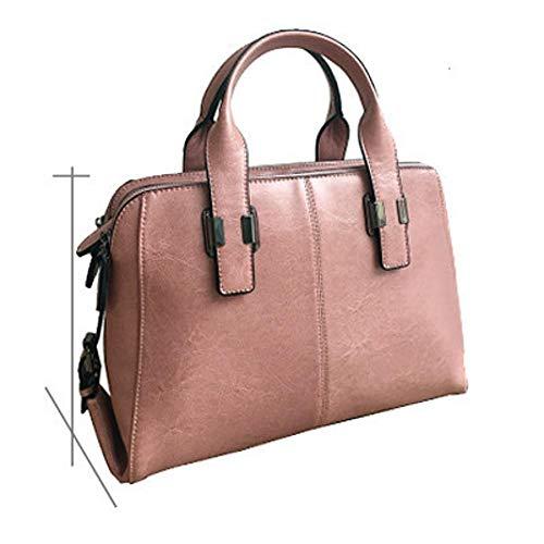 Large D Simple Fashion Bag Cowhide Layer Head Female Leather Capacity Bag Bag Handbag Female Hongge wPqBCC