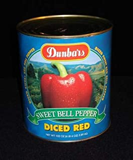 "product image for Moody Dunbar 1/4"" Diced Red Pepper - no. 10 can, 6 cans per case. Regular Pack"