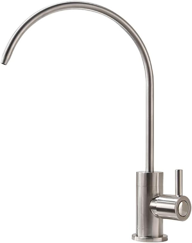 Drinking Water Faucet,Water Filtration Faucet,Drinking Water Purifier Faucet, Kitchen Water Filter Faucet, Brushed Nickel, Stainless Steel, RULIA PB1019