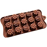 BargainRollBack Rose with Camellia Flower Ice Cube Chocolate Soap Tray Mold Silicone Party Maker