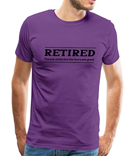 Spreadshirt Retirement Benefits Men's Premium T-Shirt, 5XL, Purple