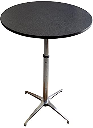 Amazoncom Inch Round Adjustable Height Cocktail Table Black - 30 inch round outdoor table