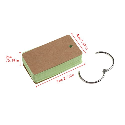 Ladaidra Writing Note Pads with Ring Blank Page 230 Sheets, 2.76