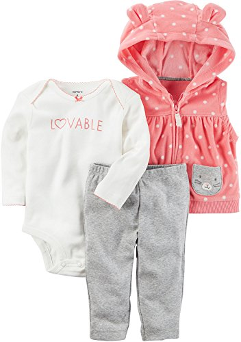 - Carter's Baby Girls' 3 Piece Dot Little Vest Set 6 Months
