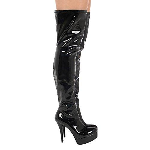 Platform Womens ByPublicDemand Patent High DITA Black Thigh Boots IqAq8x7p