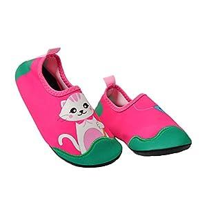 Ozkiz Girls Cat Aqua Sock Water Shoes XX-Large