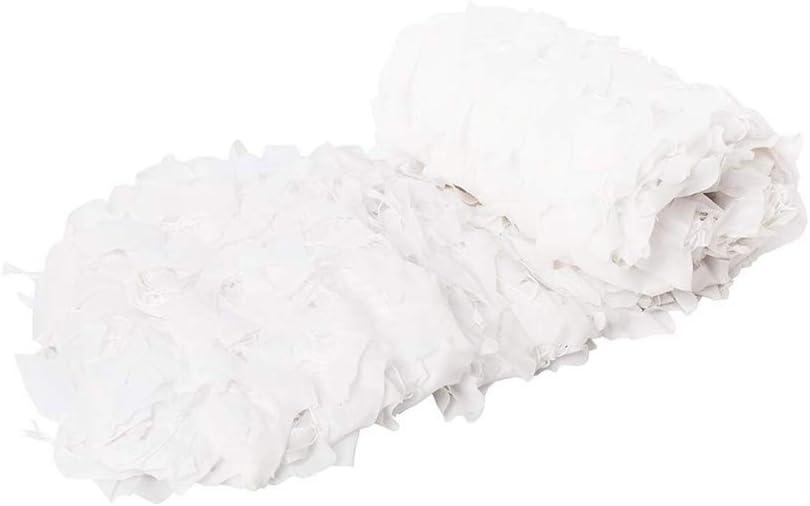 迷彩ネット 純粋な白のカモフラージュネットオックスフォード布ハロウィンベールフィールド屋外ハイキング狩猟装飾スカーフ キャンプ (Size : 7m*7m)  7m*7m