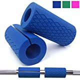 Cheap Greententljs Bar Grips Silicone fit Barbell Bars and Dumbbell Handles Grip for Weight Lifting Powerlifting Fitness Training Bodybuilding (Blue, 1″ bar)