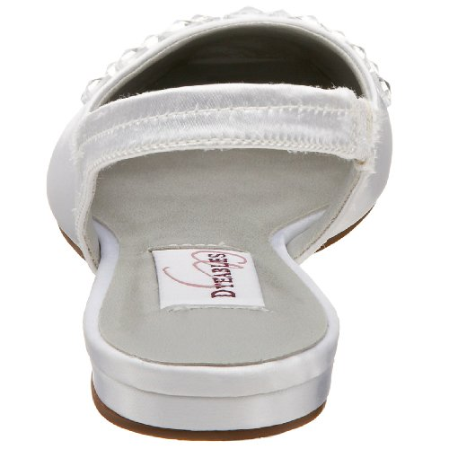 Dyeables Womens Cassie Slingback Bianco