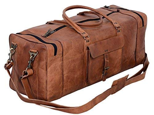 28 Inch Genuine Leather Travel Bag Leather Overnight Bag Leather Weekender Bag Leather Duffle Bags for Men