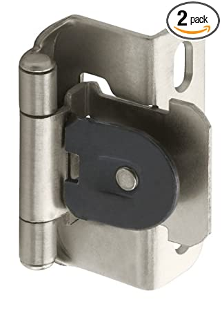 Amerock BPR8719G10 Single Demountable, Partial Wrap Hinge With 1/2in(13mm)  Overlay