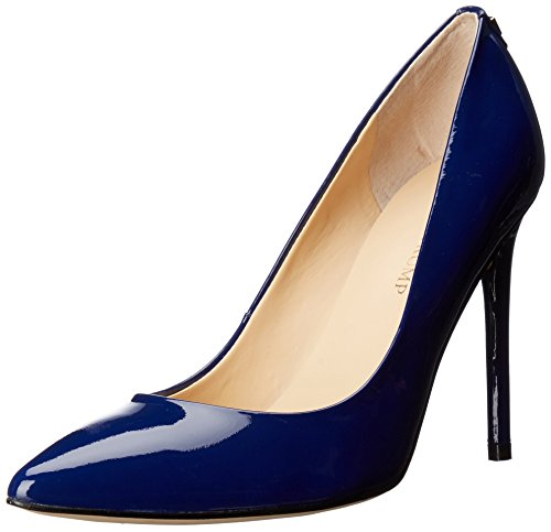 Leather High Heels Navy (Ivanka Trump Women's Kayden Pump, Navy Patent, 6 Medium US)