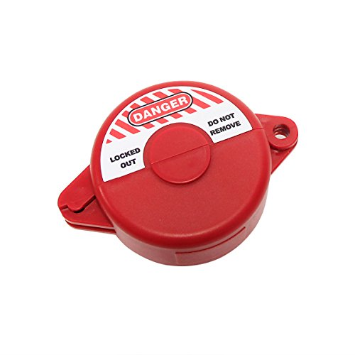 Wisamic Gate Valve Lockout 1-4/5 inch to 3-1/2 inch with 3/8 inch Diameter Padlock Hole, Gas Valve Lockout for Petroleum, Natural Gas Valve, Chemical Industry- Red