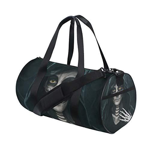 Unisex Halloween Makeup Skeleton Gym Sport Team Issue Duffel Bag by Top Carpenter]()