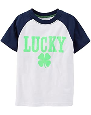 Carter's Baby Boys' Graphic Raglan Tee (Baby) Lucky