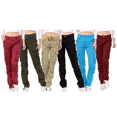 Moda Shorts Mujer Cómodo Cintura Elástico Pantalón Sólido Mujeres Casual Pantalones Cortos de Cintura Media Azul