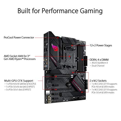 ASUS ROG STRIX B550-F GAMING (WI-FI) - Placa Base Gaming ATX AMD AM4 con VRM de 14 fases, PCIe 4.0, 2,5 Gb LAN, WiFi 6…