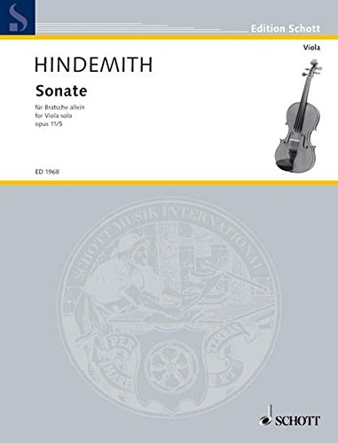 Sonate: für Bratsche allein. op. 11/5. Viola. (Edition Schott)