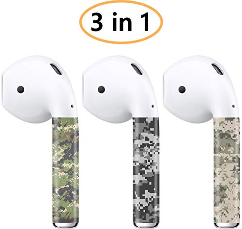 AirPods Skin (3 in 1 AirPod Skins) for AirPods 2 & 1 (Digital Military Camo) Protective Wraps Stickers to Cover Air Pods - Compatible Sticker Wrap Decal with Apple Air Pod Accessories