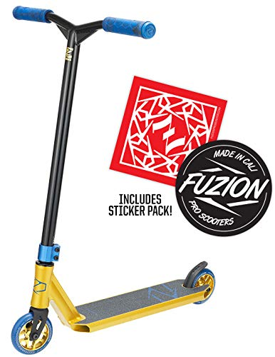 Fuzion Z250 Pro Scooters - Trick Scooter - Intermediate and Beginner Stunt Scooters for Kids 8 Years and Up, Teens and Adults - Durable Freestyle Kick Scooter for Boys and Girls (2020 - Gold)