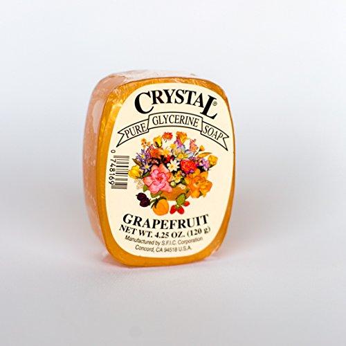 Crystal Glycerine Soap Bars Grapefruit (24 bars)