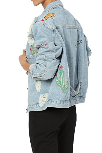 a24b00f1c2ce7 TheMogan Women s Vintage Blue Stone Washed Denim Cropped Jean Jacket ...