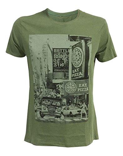 Ninja Turtles - City Men's T-Shirt - Maat M (Groen)