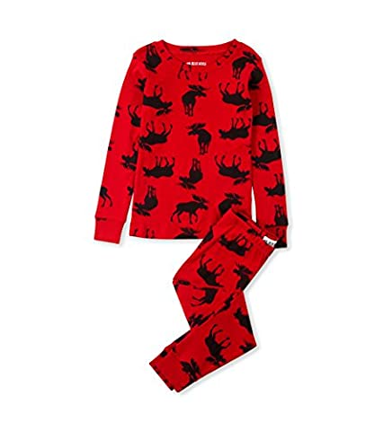 Little Blue House by Hatley boys Moose Family Pajamas, Kid's