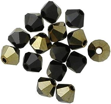 5 6 mm Swarovski 5301 Bicones Please Read Item Description Crystal AB Satin