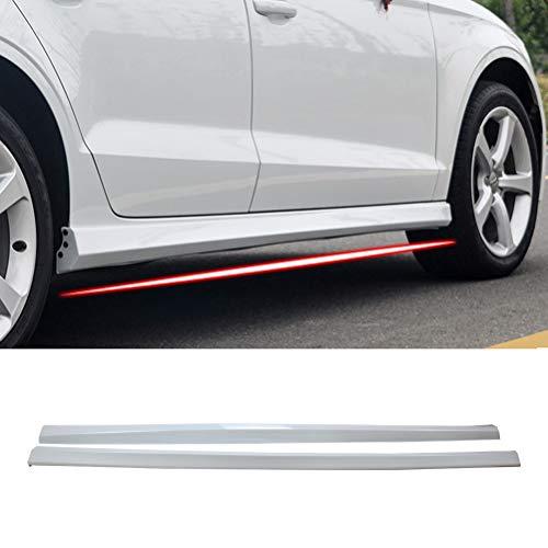 (YONGERCAR Side Skirts Spoiler Body Fit for 2013-2019 Audi A3 Sedan Car Extension Splitter Glacier White ABS)