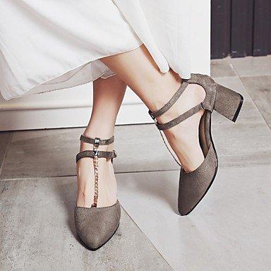 LvYuan Mujer-Tacón Robusto-Otro Confort Innovador Gladiador Suelas con luz Zapatos del club-Sandalias-Boda Oficina y Trabajo Vestido Informal Camel
