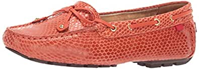 MARC JOSEPH NEW YORK Womens Genuine Leather Cypress Hill Loafer Driving Style, Coral Snake 5 M US