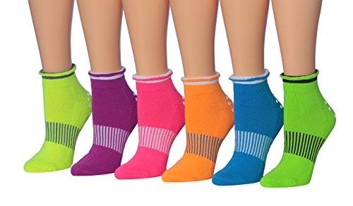 Ronnox Women's cushioned Yoga Socks Non-Slip Pilates Barre Workout Socks (Plus Size. Fits Women's Shoe Size 8-14)